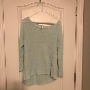 Old Navy Hi Lo Open Knit Sweater Size Large